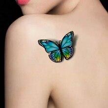 2016 New 3D Multicolor Butterfly Pattern Waterproof Temporary Removable Tattoo Art Sticker 08WG
