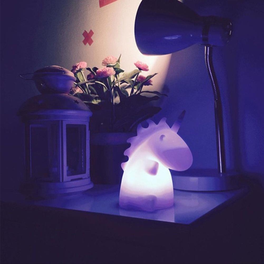 Lumiparty Cute Baby Bedroom Unicorn Lamps Night Light Cartoon Pets Sleep Kids Lamp Night light Gifts for Children