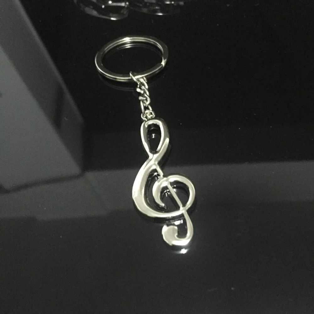 3 قطع الموسيقى المفاتيح جوقة هدية من المعدن الموسيقية ملاحظة مفتاح سلسلة الجدة تذكارية حلقة رئيسية الموسيقى الخاصة الطلاب الهدايا
