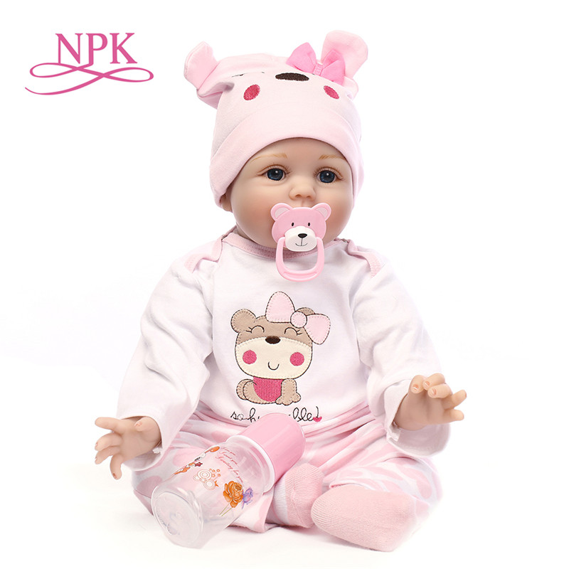 NPK Reborn Baby Dolls Silicone Cute Newborn Soft Alive Babies Doll For Girls Kids Bebe Reborn Dolls With Magnetic Pacifier 50cmNPK Reborn Baby Dolls Silicone Cute Newborn Soft Alive Babies Doll For Girls Kids Bebe Reborn Dolls With Magnetic Pacifier 50cm