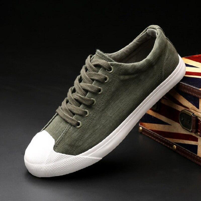 Plat Fonds Basse Green gris Loisirs Sélections Les Noir Toutes Chaussures Tissu Printemps Toile Plates Homme army Nouveau Aide Chaussure Fond De Xv0xR