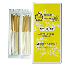 200 pcs/box Sterile acupuncture needles full gold plated full gilded Non Disposable Needle