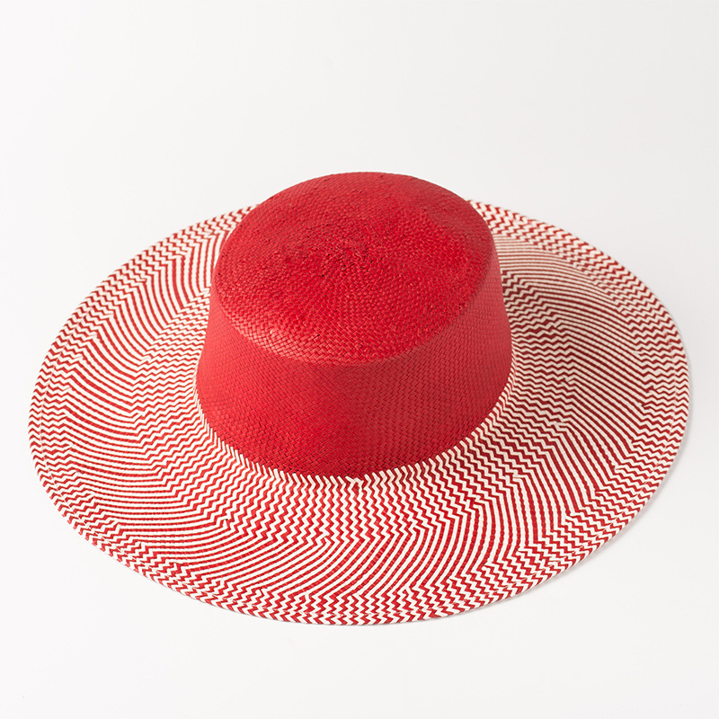 5058d89c US $23.21 28% OFF|Boater Hat Women Toyo Paper Straw Sun Hats 2018 Summer  Beach Hats for Ladies Fashion Chic Red Hat 681023-in Sun Hats from Apparel  ...
