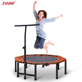 48inch Folding Trampolines With Adjustable Handrail Angle New Gym Fitness Trampoline for Kids Adults Indoor Sports Dropshipping - DISCOUNT ITEM  28% OFF All Category
