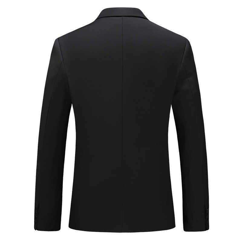 メンズブレザービジネスクラシック正式なスリムスーツのジャケットの男性のハイエンドプラスサイズ黒スーツのジャケットの作業制服の付添人のドレス