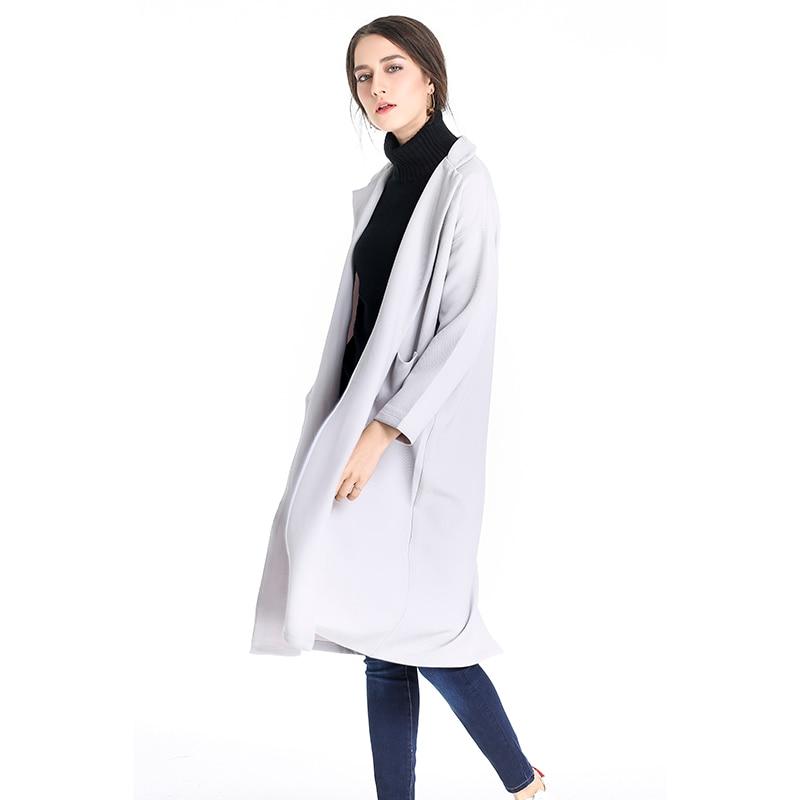 ZHISILAO 2017 Winter Woman Coat Chic Vintage Winter Coat Women Pull Poncho Kpop Christmas Women Long Coat Thick Jaqueta Feminina