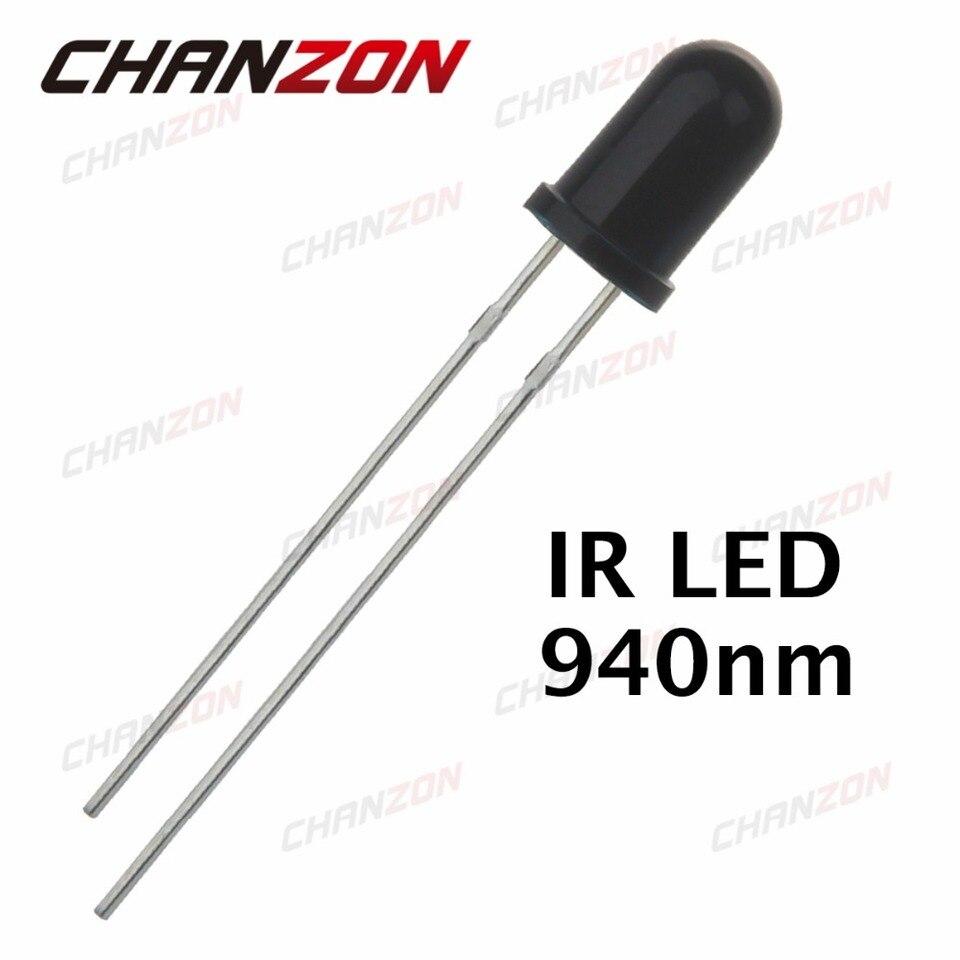 20Pcs 5mm 940nm IR detector sensor Infrared phototransistor black//white ESciHAZH