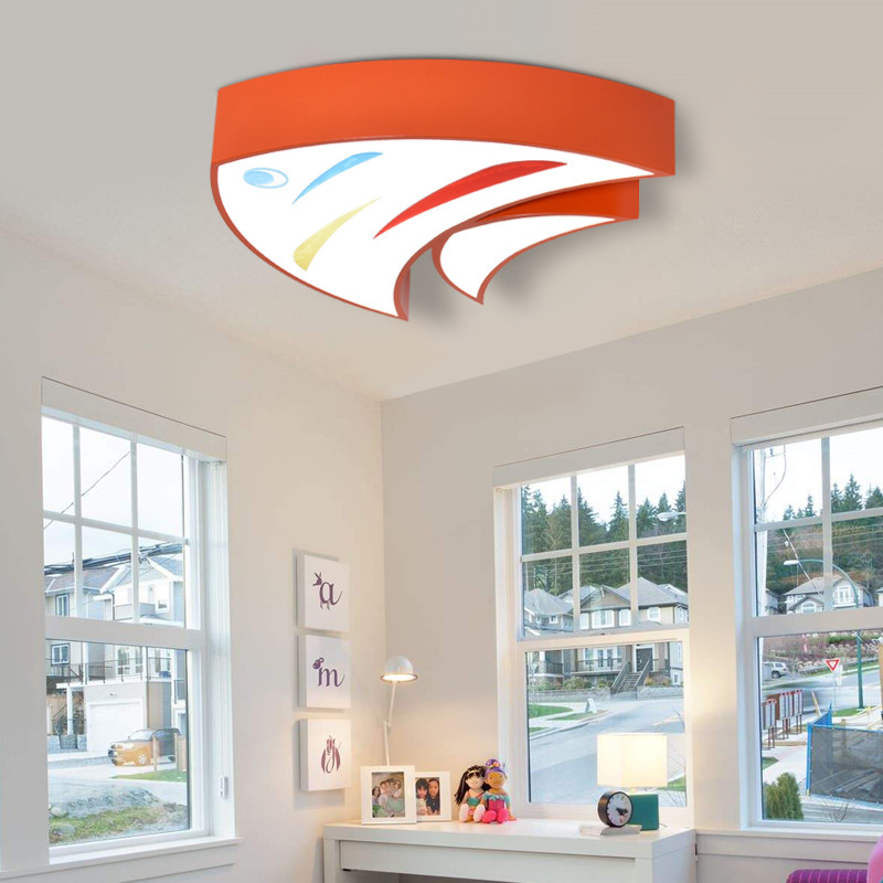 Led Ceiling Light With Ultra-thin Acrylic And Wooden Lamp Ceiling For Kids Room Baby Room Bedroom Flush Mount Lamparas De Techo Clear And Distinctive Ceiling Lights & Fans