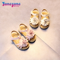 0 2T Summer Babies Baby Girl Big Floral Genuine Leather Princess Shoes Infant Anti Slip Newborn