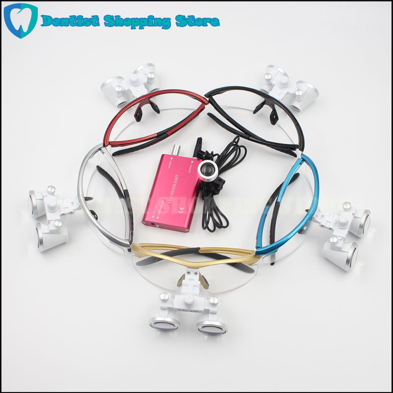 3.5X420mm Dental Surgical Loupe Magnifier, Binocular Magnifier with LED Head Light Lamp Freeshipping Dental Loupes dental loupes 3 5x 420 mm surgical magnifier binocular magnifier with led head light lamp surgical dentists magnifier