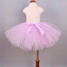 174114b74 Falda de tutú mullida de plata lavanda bebé niña cumpleaños fiesta disfraz  niños danza Ballet Pettiskirt