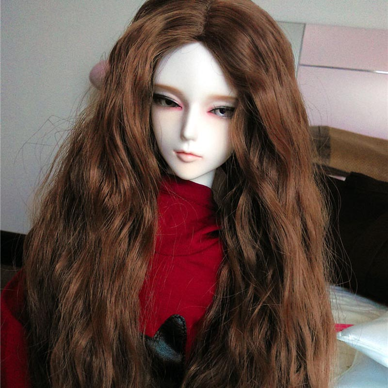 Жаңа келу 1/3 1/4 1/6 Bjd SD Қуыршақ Wig Wire Мода Long Big Wavy High Temperature BJD Super Doll Hair