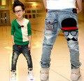 Мальчики брюки джинсы 2017 Модные Мальчики Джинсы для Весна Осень детские Брюки Джинсовые Дети светло-синий Дизайн Брюки