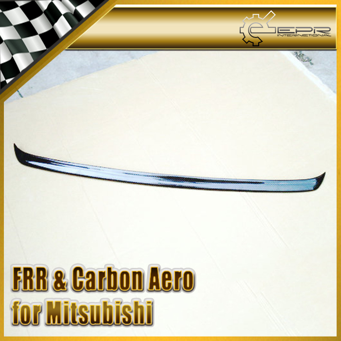 EPR International Auto Parts EPR For Mitsubishi Evolution EVO 10 X Carbon Fiber Voltex Gurney Flap Rear Wing Spoiler Car Accessories Car Styling