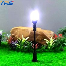 Teraysun Wholesale Architectural Scale Model Lamp 7cm LED cool white lighting scale model lamppost