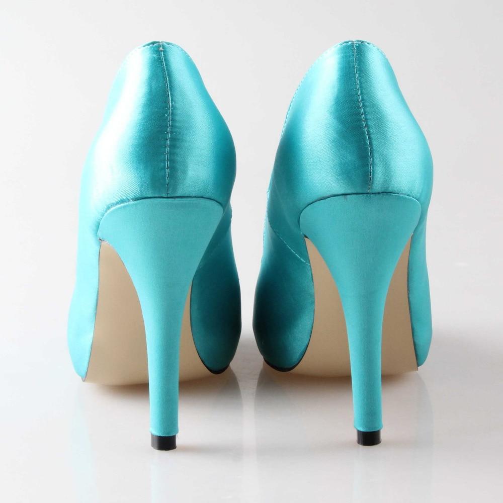 Creativesugar Handmade aqua blue turquoise wedding shoes rhinestone ...