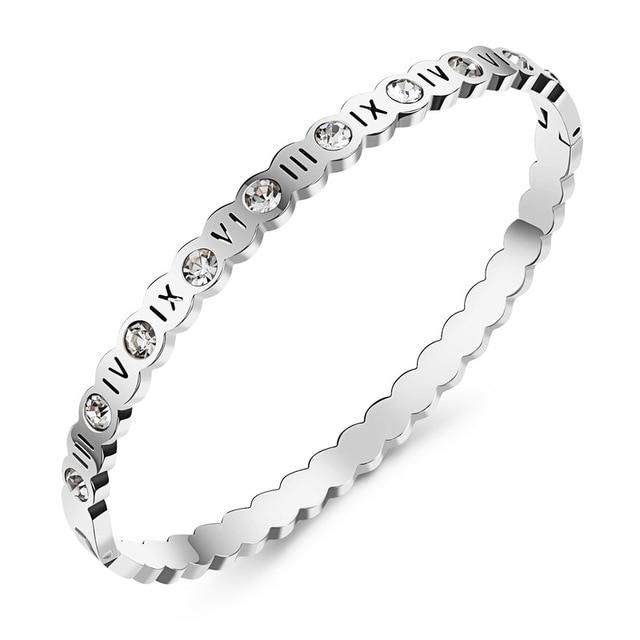 Купить браслет из титановой стали браслет с римскими цифрами и полым