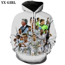 YX GIRL Drop shipping 2018 New Fashion Hoodie Cristiano Ronaldo character 3d Print Men's women's Casual hooded sweatshirt ZH919(China)
