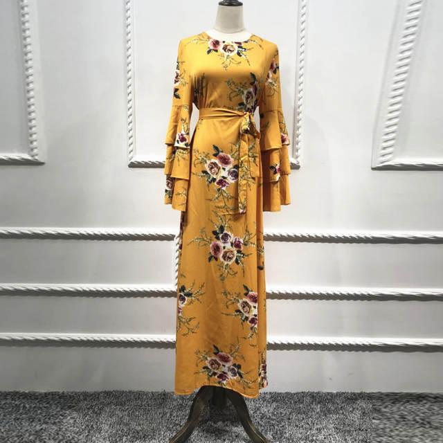 04da196ff5a6e US $27.62 49% OFF|Kaftan Abaya Dubai Bangladesh Islam Dress 2019 Vestidos  Bandage Arabic Women Muslim Hijab Dress Turkish Islamic Elbise Clothing-in  ...