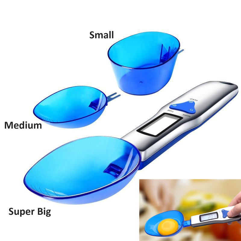 Portable Mini LCD Digital Kitchen Scale Measuring Spoon Gram Electronic Spoons