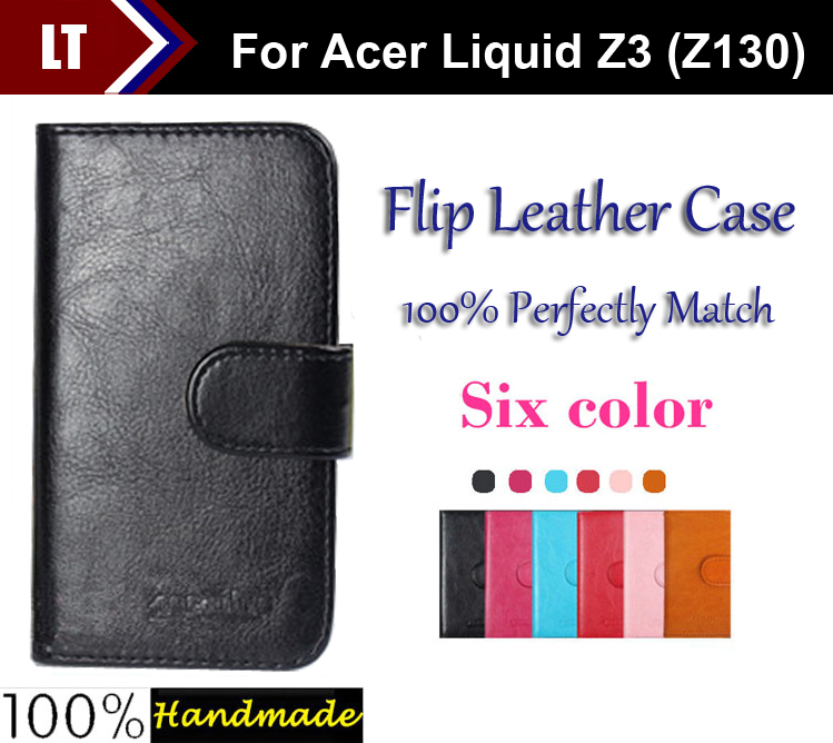 Hot 6 Colors Dedicated Flip Leather Customize Protective Phone Cover Case For Acer Liquid Z3 Z130 Card Holder Wallet Bags image