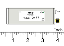 KSGC-2457.6 2.4G active crystal oscillator, 2457.6MHz high precision fixed frequency signal source, signal generator 500pcs 12mhz 3 8mm passive cylindrical quartz crystal oscillator