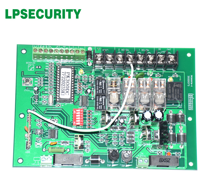 LPSECURITY motherboard PCB motor controller circuit board card for swing gate opener motor 24VDC input power(KEYFOBS optional) цена
