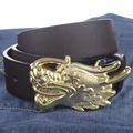 Silver and golden Dragon buckle PU leather belt man belts new style fashion man leather belts 5478