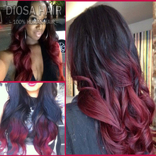 ombre lace wig virgin
