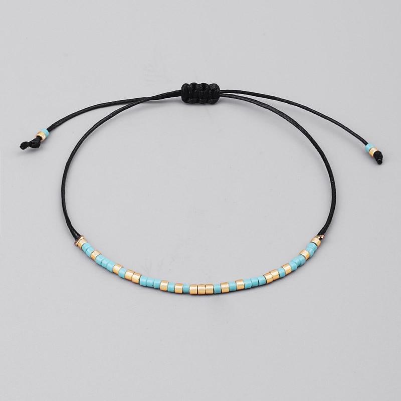 1a3214467 Handmade MIYUKI Seed Bead Bracelet Lovely Popular Love Lucky Bracelets &  Bangles For Women Men Mix Colors Beads Bracelets-in Strand Bracelets from  Jewelry ...