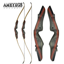 1pc 25-50lbs Recurve Bow 62inch Longbow Right Hand Takedown Fit Teen Archer Hunting Sports Shooting Practice Archery Accessories