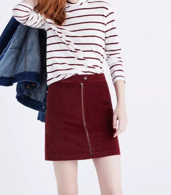 b23830cd19 US $23.37 15% OFF|2017 New Look Womens A line Red Zip Mini Skirt In Velvet  New Trends Fashion Short Lady Skirts-in Skirts from Women's Clothing on ...