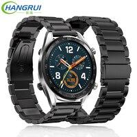 Hangrui 22 мм металлический ремешок из нержавеющей стали для Amazfit stratos 2 pace Смарт-часы сменный ремешок на запястье для huawei gt watch/active
