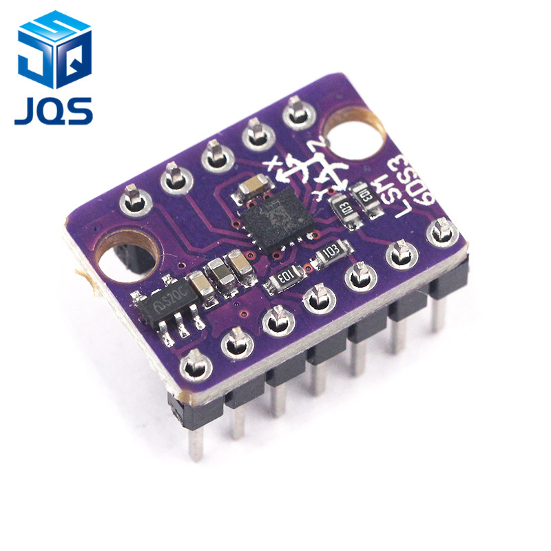 LSM6DS3 Accelerometer Gyro Embedded Digital Temperature Sensor Module SPI IIC I2C Interface Module 8kb FIFO Buffer 5V