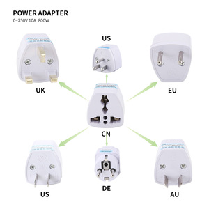 CN To EU US AU UK Power Adapte