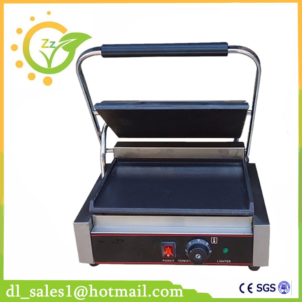Commercial Grill Sandwich Maker Contact Grill Stainless steel Electric Griddle Single Head Groove Plates 220V/1800W кепки nike кепка nike w s run zip aw84