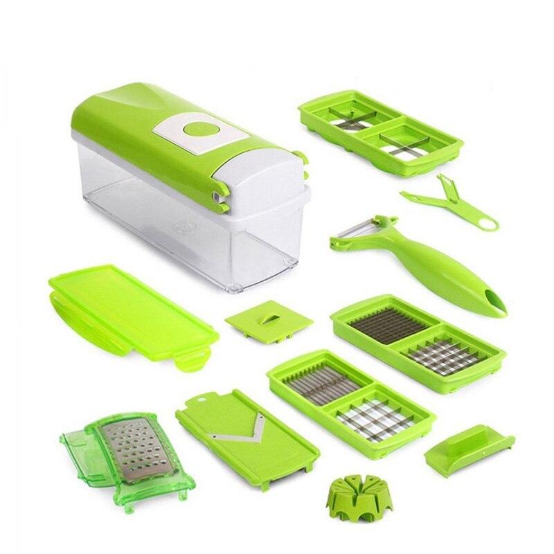 12 In 1 Multi-Purpose Frutta Verdura Tools Taglierina Peeler Dincer Accessori Cucina Strumenti di Cottura