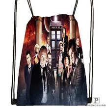 Custom peter-capaldi-doctor-who Drawstring Backpack Bag Cute Daypack Kids Satchel (Black Back) 31x40cm#2018612-01-12