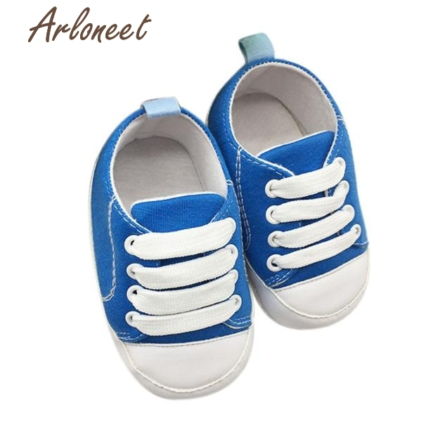 oct 2017 Toddler Shoes Anti-Slip Soft Solid Canvas Shoes