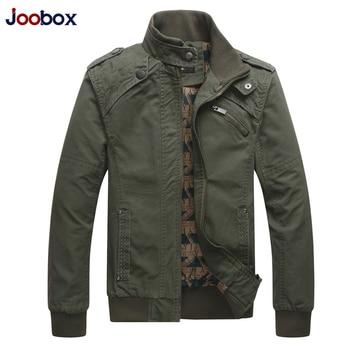 JOOBOX 2018 Neue Herbst & Winter Baumwolle Jacken und Mäntel Männer Stehen Kragen Military Herren Jacke Mode Lässig Oberbekleidung Homme