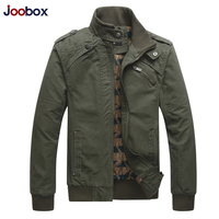 JOOBOX 2018 New Autumn & Winter Cotton Jackets and Coats Men Stand Collar Military Mens Jacket Fashion Casual Outerwear Homme