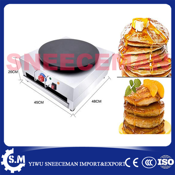 Commercial electric or gas  Use Non-stick 40cm Pancake Crepe Maker Machine Baker Griddle 1pcs new arrival 40cm pan pancake griddle stove lpg commercial pancake machine pancake stove ship to your home