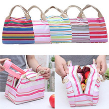 цена Thermal Insulated Lunch Bag Tote Cooler Zipper Bag Bento Lunch Pouch life Fashion Storage L522