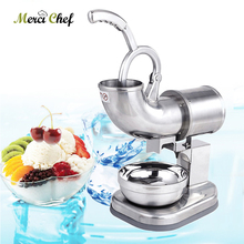 Commercial Ice Crusher Smoothie Machine Ice Flake Machine  Stainless Steel Ice Machine Fruit Slushy Maker For Cocktails Bar