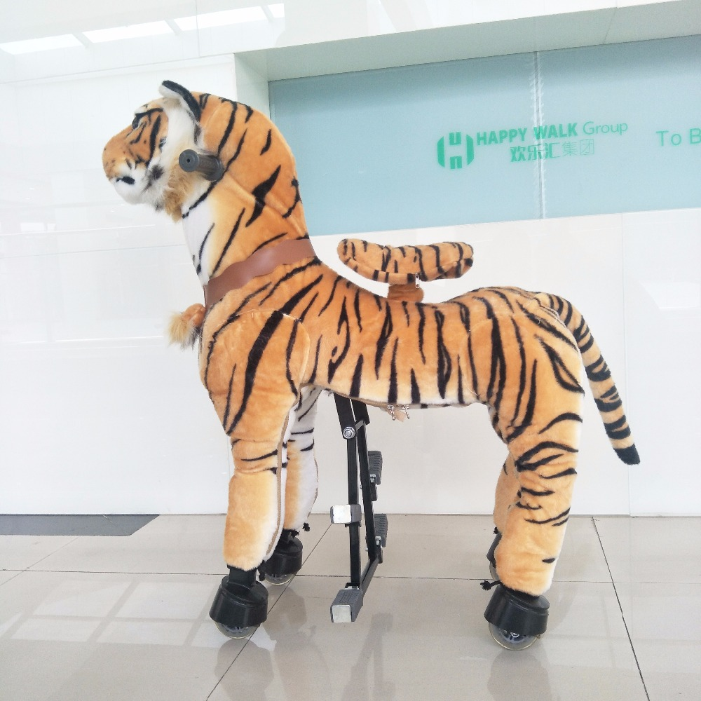 HI CE New M Size Mechanical Horse Kawaii Animal Ride on Horse Tiger Rode on Horse Kids Toy Suitable for Children/Adult/Youth happy toy hot sale life size horse toy mechanical horse toys walking horse toy