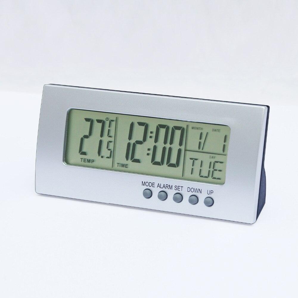 JIMEI H205 Mini Lcd Digital desk alarm clock Temperature Meter