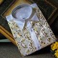 2017 Otoño camisa masculina traje de boda de oro paillette blanco decoración de La ropa del cantante