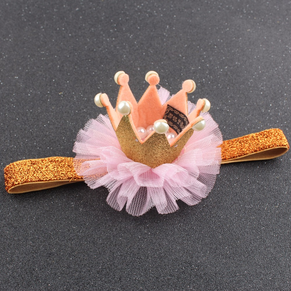 Baby Photoprops Crown Hair Headband Dress Cosplay Chiffon Kid Birthday Party Baby Shower Decoration