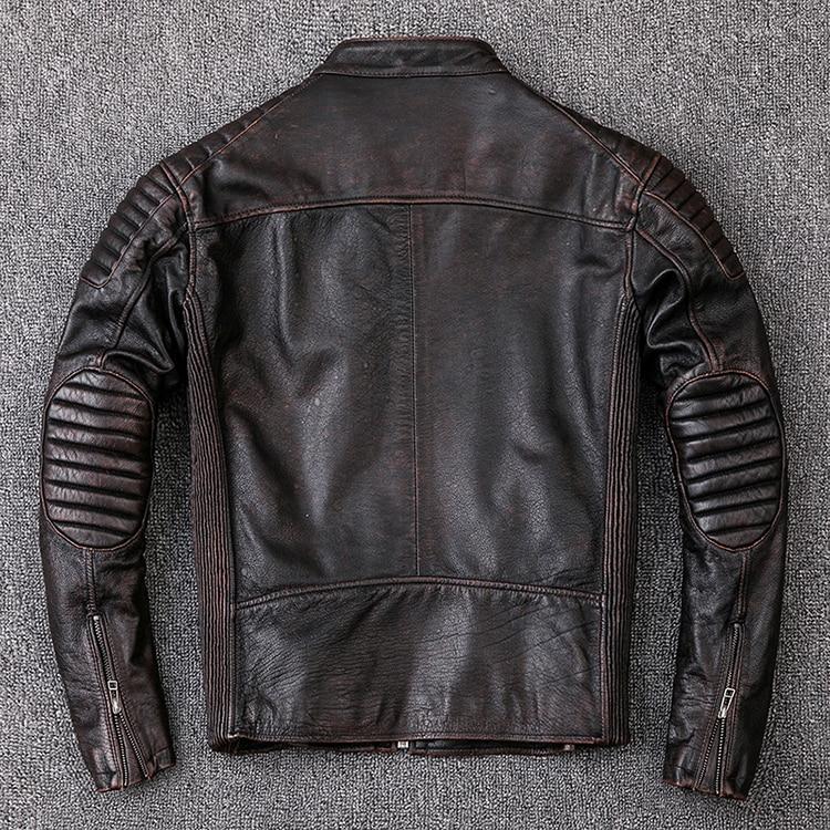 HTB1NQ6GXEjrK1RkHFNRq6ySvpXaz Brand new cowhide clothing,man's 100% genuine leather Jackets,fashion vintage motor biker jacket.cool warm coat