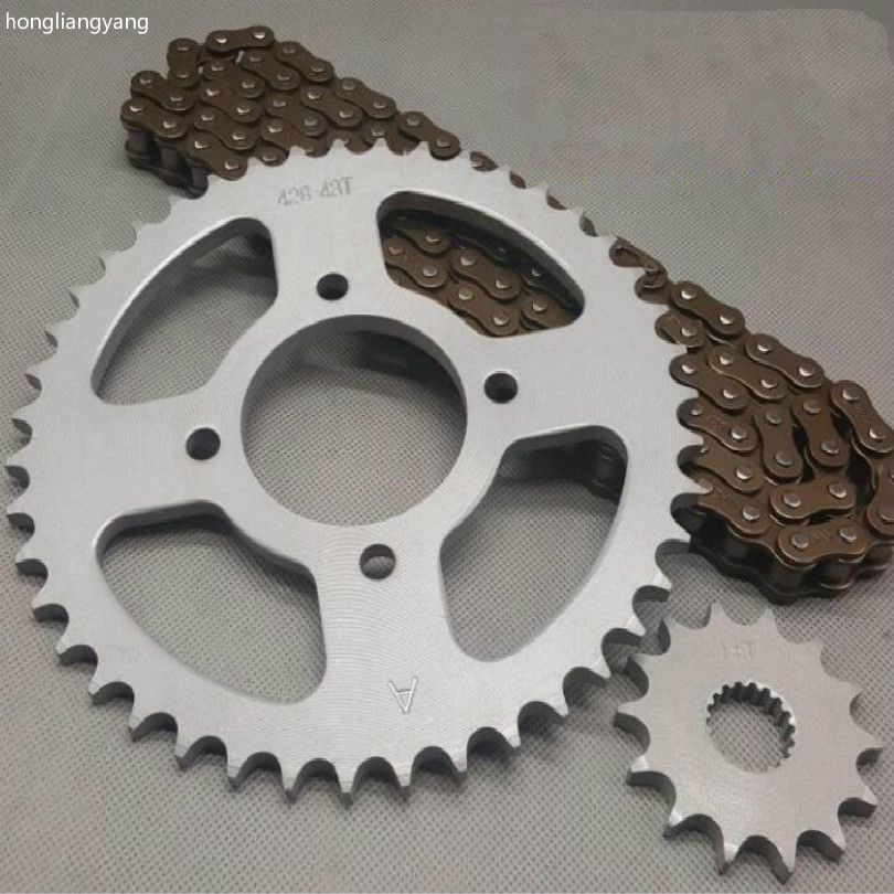 EN 125 gs 125 gn 125 <font><b>sprockets</b></font> chain sets <font><b>38t</b></font> 39t 43t 45t+14t 116section chain FREE SHIPPING image